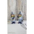 Orgona lány és fiú kerámia dekoráció
