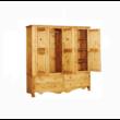 Karina rusztikus fenyőfa szekrény 4 ajtós - lavintagehome.hu