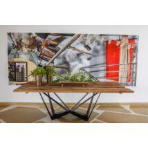 Riley tölgyfa étkezőasztal 3D fémlábakkal 200 cm