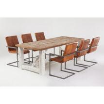 California tölgyfa étkezőasztal 6 db Quadrant bőrszékkel - lavintagehome.hu