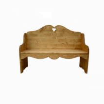 Rusztikus kétszemélyes fenyőfa ülőpad