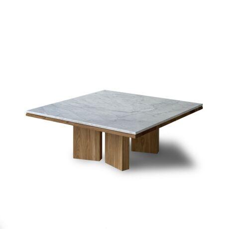 Tonic Coctail carrarai márványlapos dohányzóasztal tölgylábbal - lavintagehome.hu