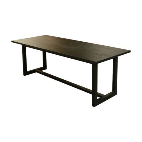 Opium bővíthető tölgyfa étkezőasztal fémlábakkal - lavintagehome.hu