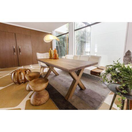 Sasa tölgyfa étkezőasztal X falábbal - lavintagehome.hu
