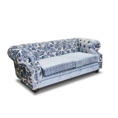 Chesterfield szövet kanapé - lavintagehome.hu