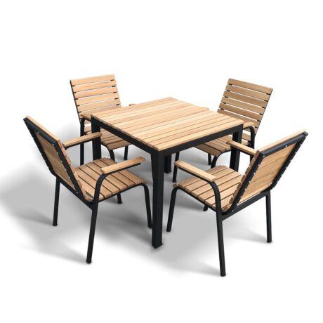 Terrace tölgyfa asztal 4 székkel - lavintagehome.hu