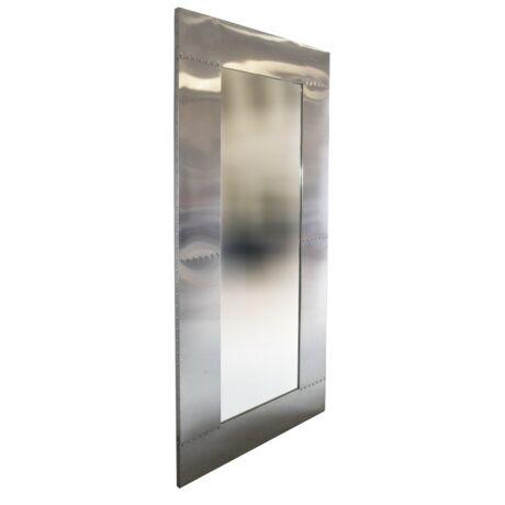 Aero design aluminium keretes állótükör - lavintagehome.hu
