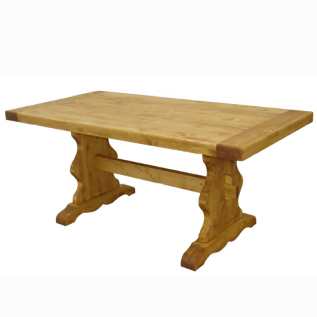 Karina rusztikus fenyőfa étkezőasztal 200 cm - lavintagehome.hu